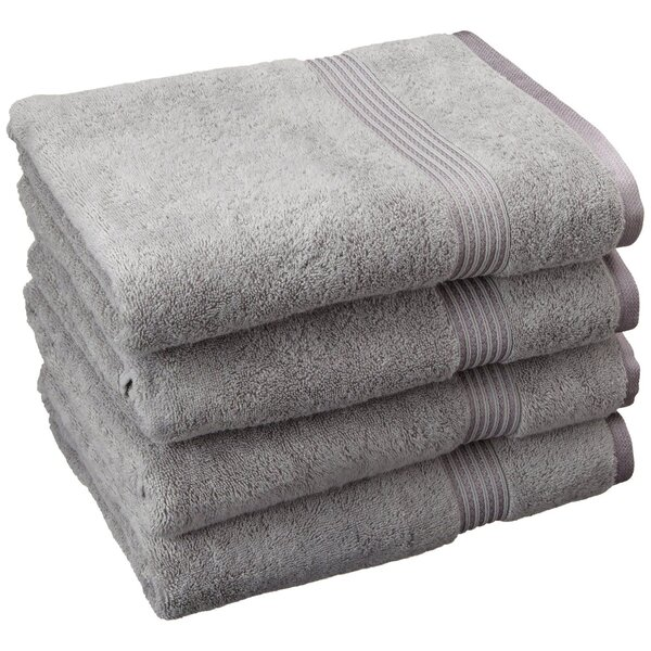 Patric 4 Piece Bath 100% Cotton Towel Set by The Twillery Co.